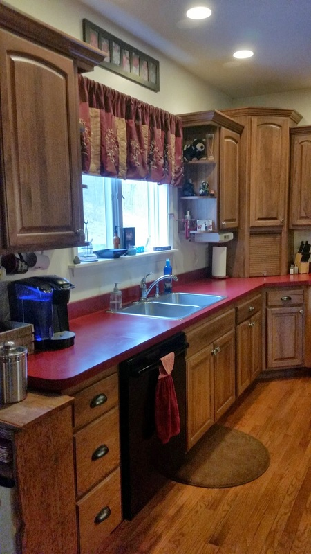 Recessed Lights Over The Countertop Areas Provides Ample Lighting For Work Ladder Rack Island Quaint Country Charm